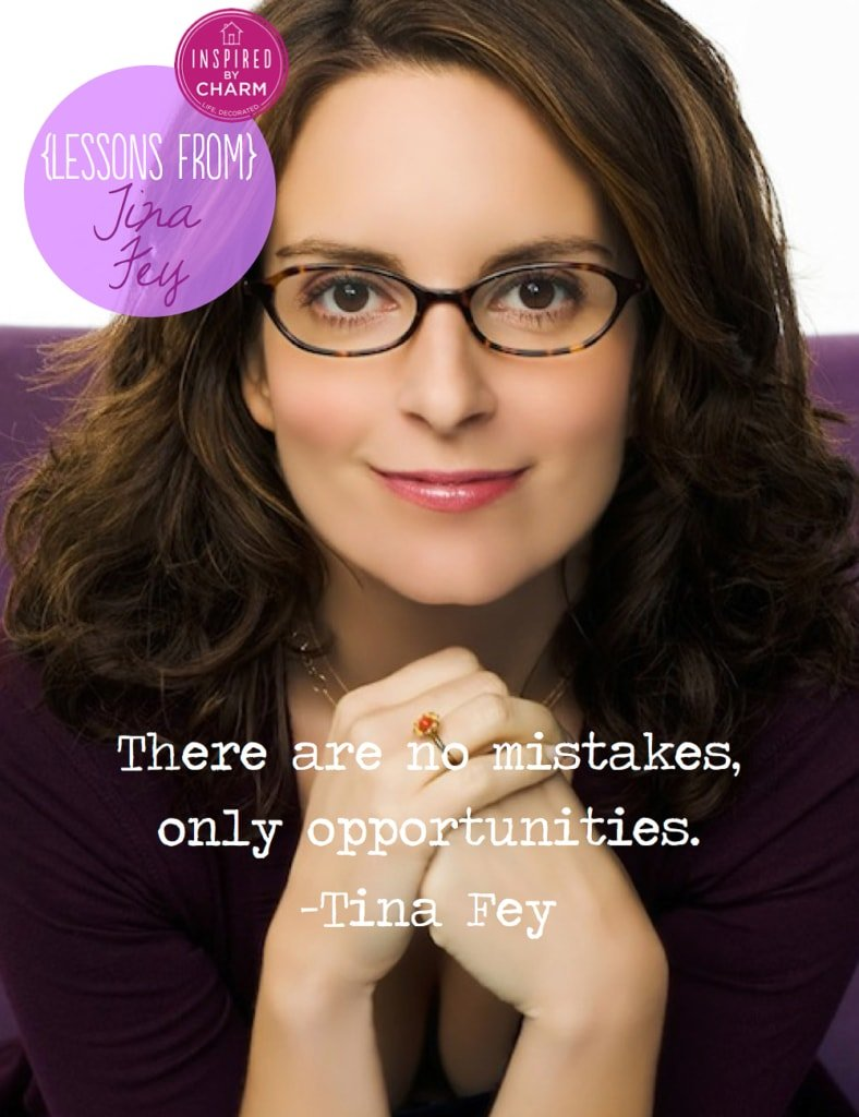 Lessons From: Tina Fey via Inspired by Charm