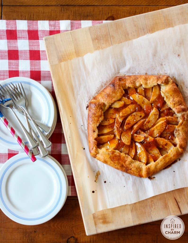 All-American Apple Crostata with Cheddar Crust via Inspired by Charm