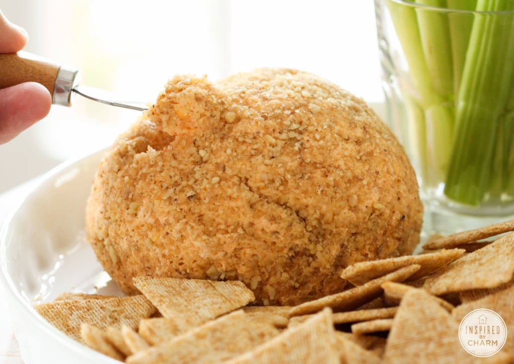 Homemade Buffalo Cheese Ball | Inspired by Charm