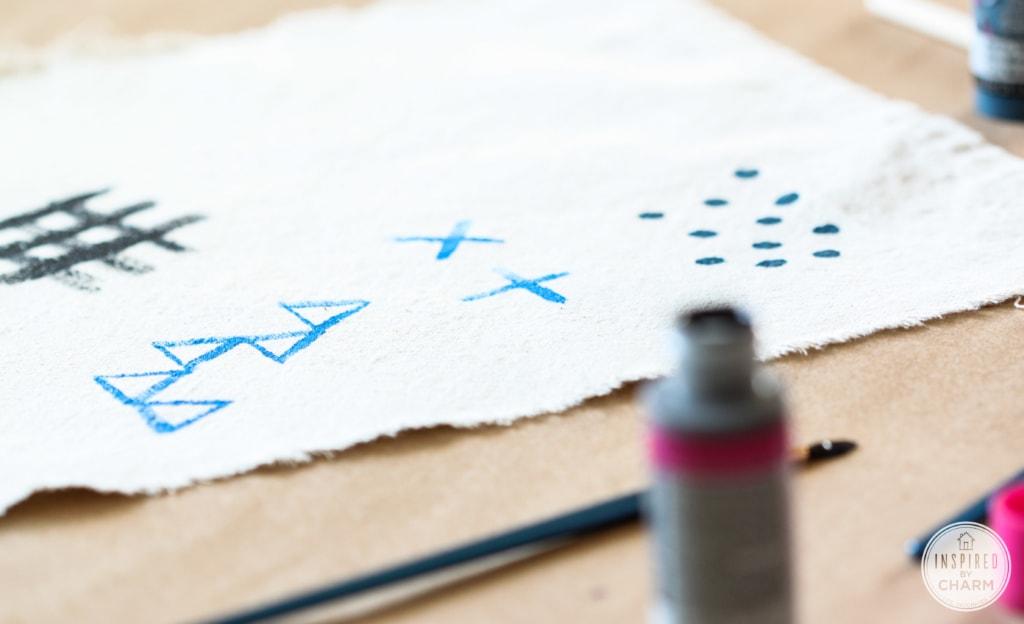 DIY Dot Table Runner   Inspired by Charm