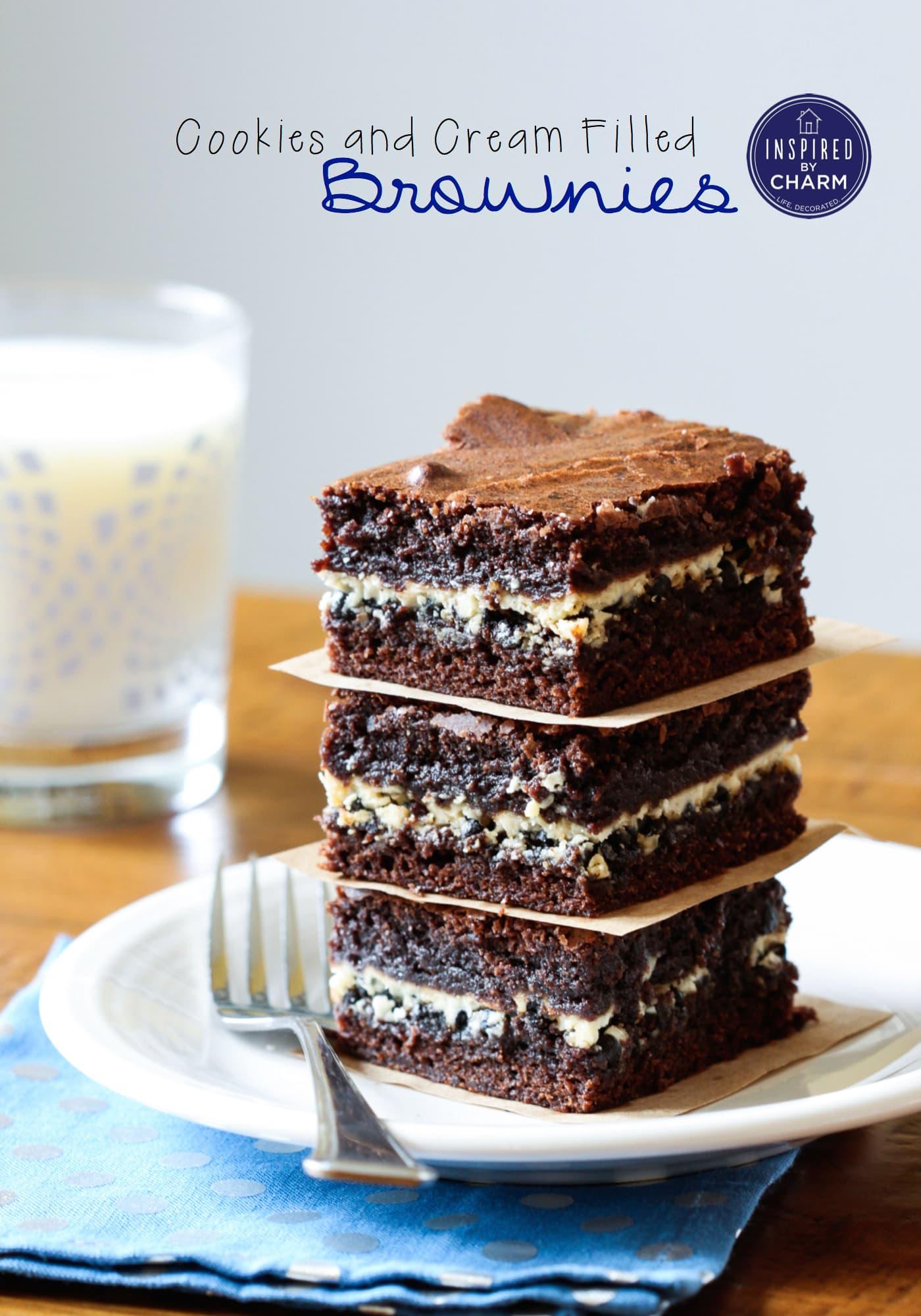 Cookies And Cream Brownies Recipe — Dishmaps