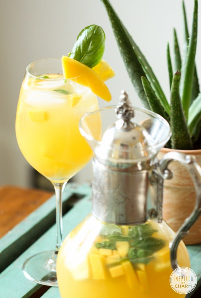 Pineapple, Mango and Basil Sangria | Inspired by Charm