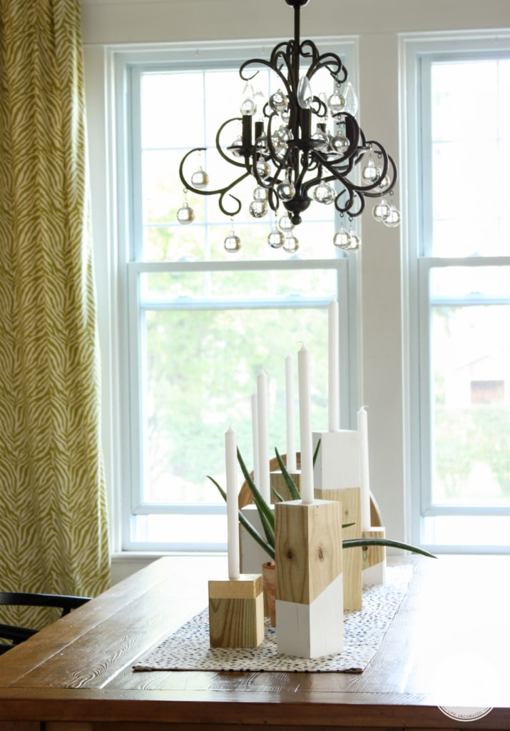 Wood Colorblock Candle Holders   Inspired by Charm