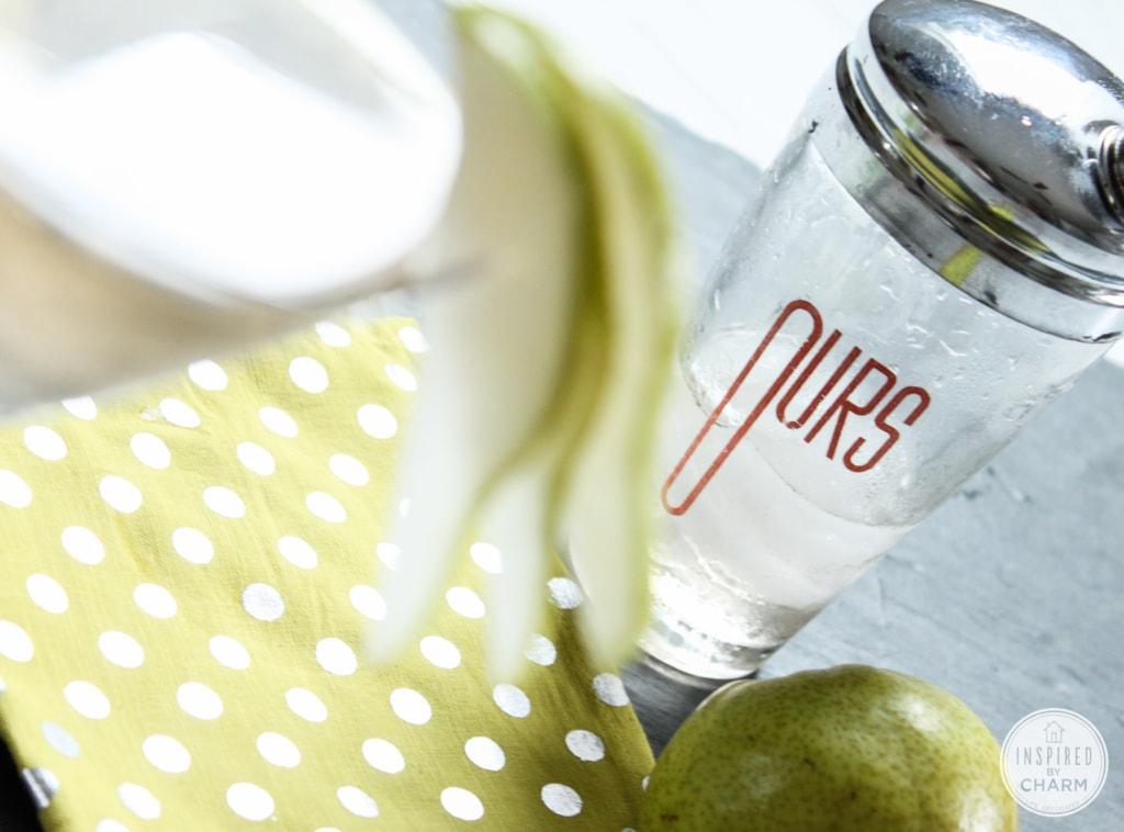 Pear Martini   Inspired by Charm #drinkandlinks