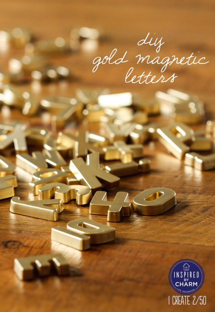 DIY Gold Magnet Letters | Inspired by Charm