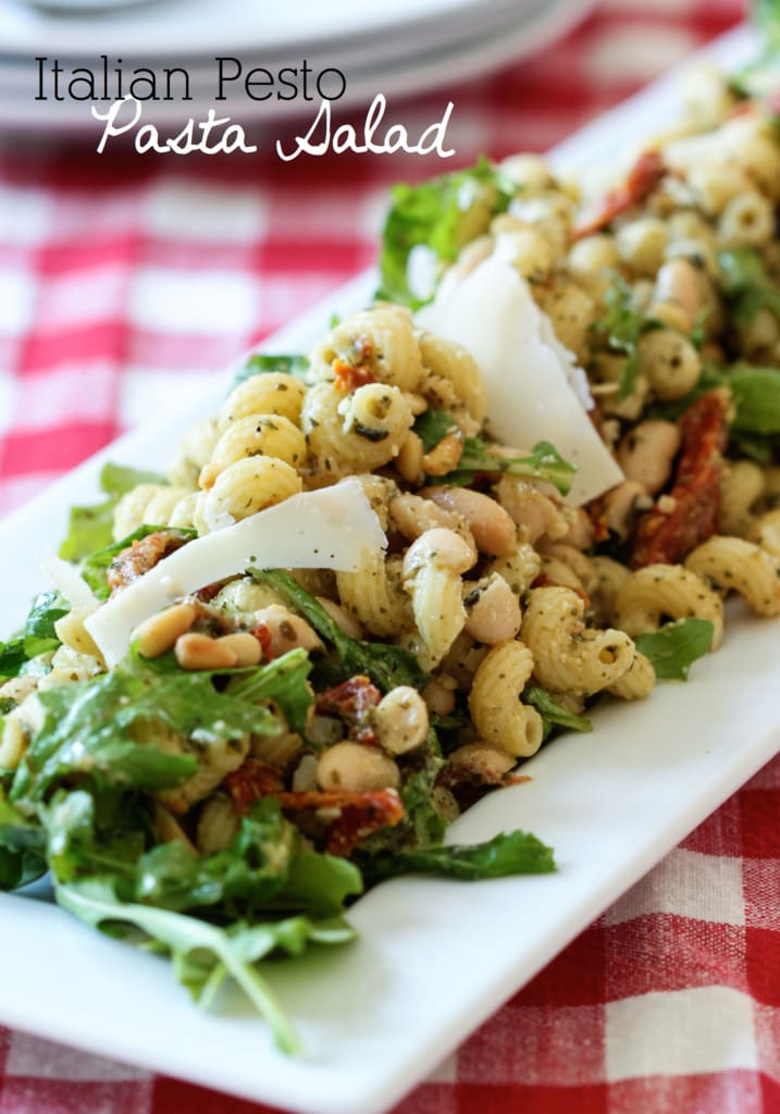 Italian Pesto Pasta Salad | Inspired by Charm