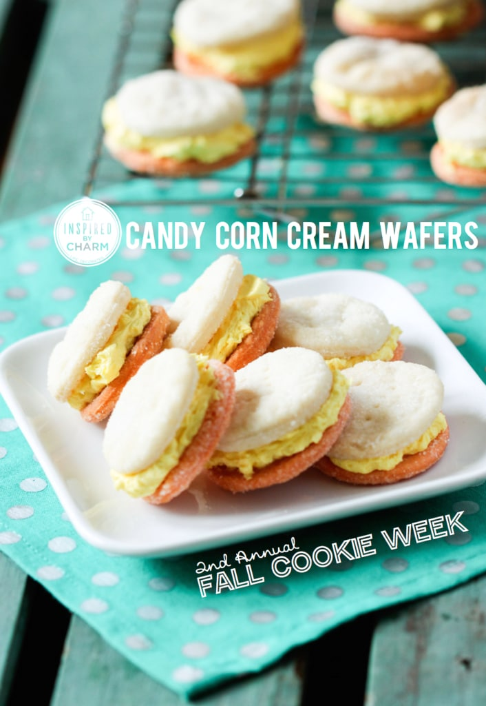 Candy Corn Cream Wafers | Inspired by Charm #IBCFallCookieWeek