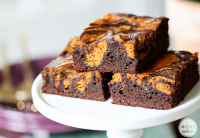 Pumpkin Brownies | Inspired by Charm