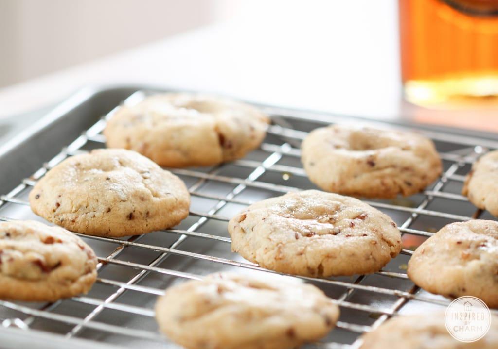 Butter Pecan Maple Crisps | Inspired by Charm #IBCFallCookieWeek