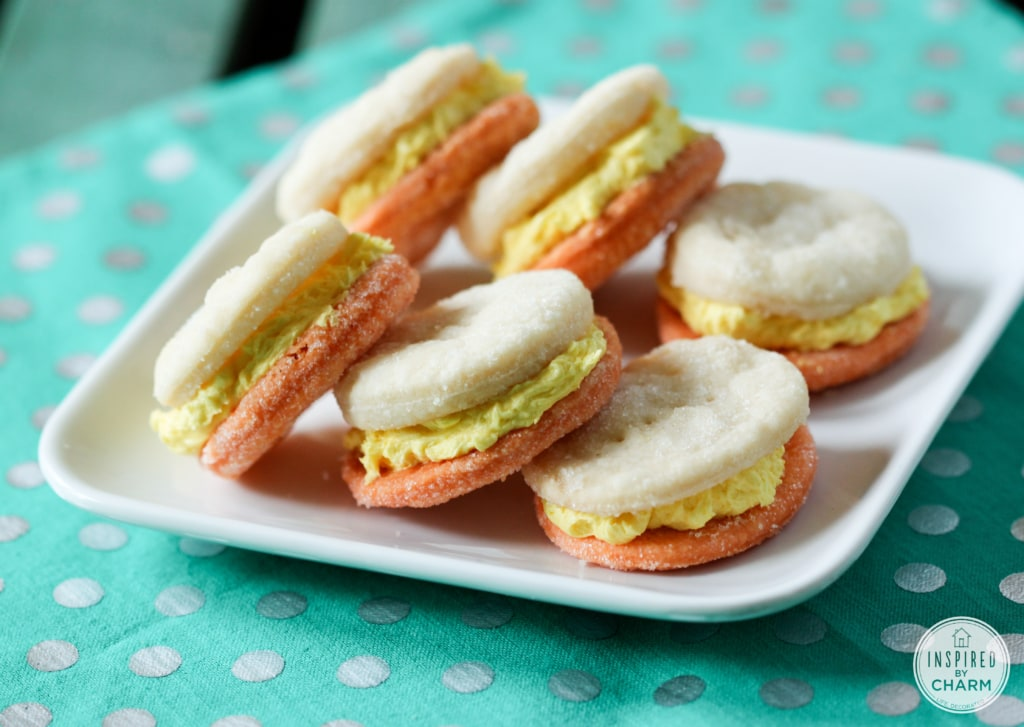 Candy Corn Cream Wafers   Inspired by Charm #IBCFallCookieWeek