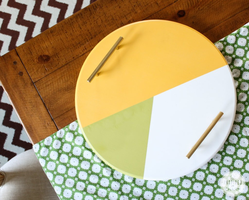 DIY Colorblock Tray | Inspired by Charm #31DaysofHome