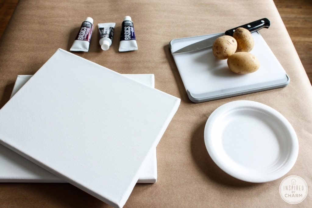 DIY Potato Painting | Inspired by Charm #31daysofhome