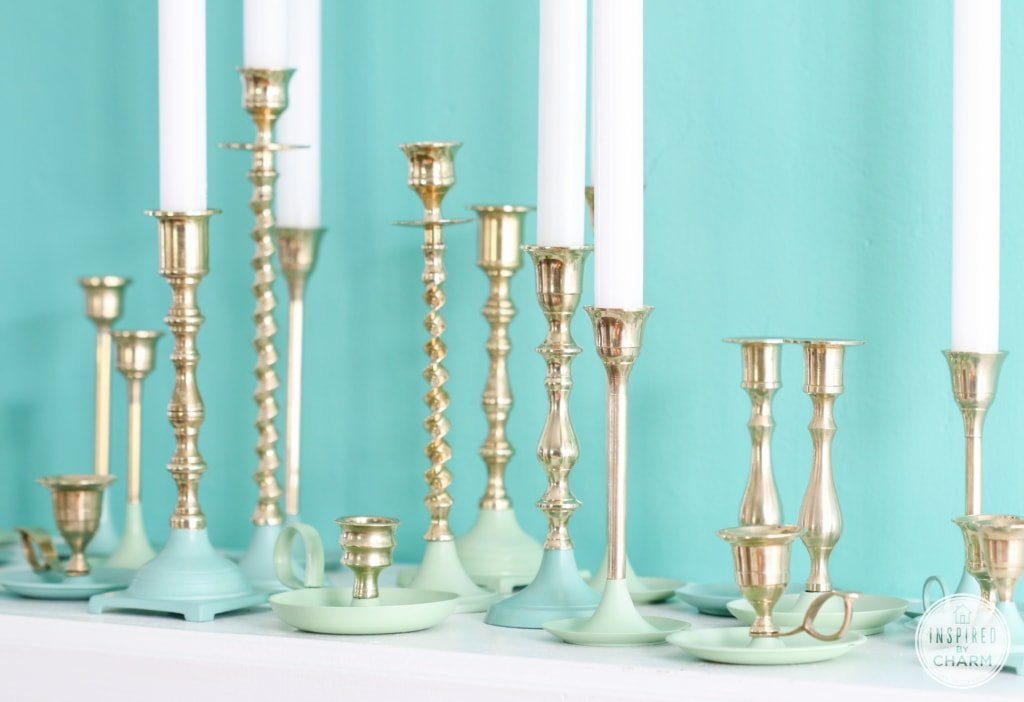 Paint Dipped Candlesticks | Inspired by Charm #31daysofhome