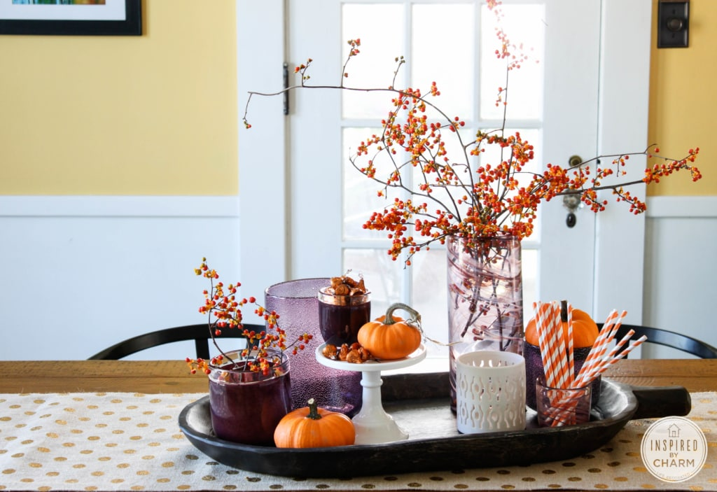 Tips for Styling the Perfect Fall Centerpiece | Inspired by Charm #31daysofhome