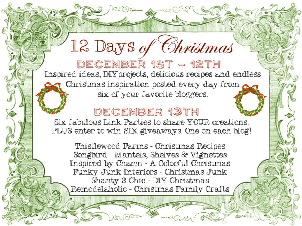 It's Back! 12 Days of Christmas - Inspired by Charm