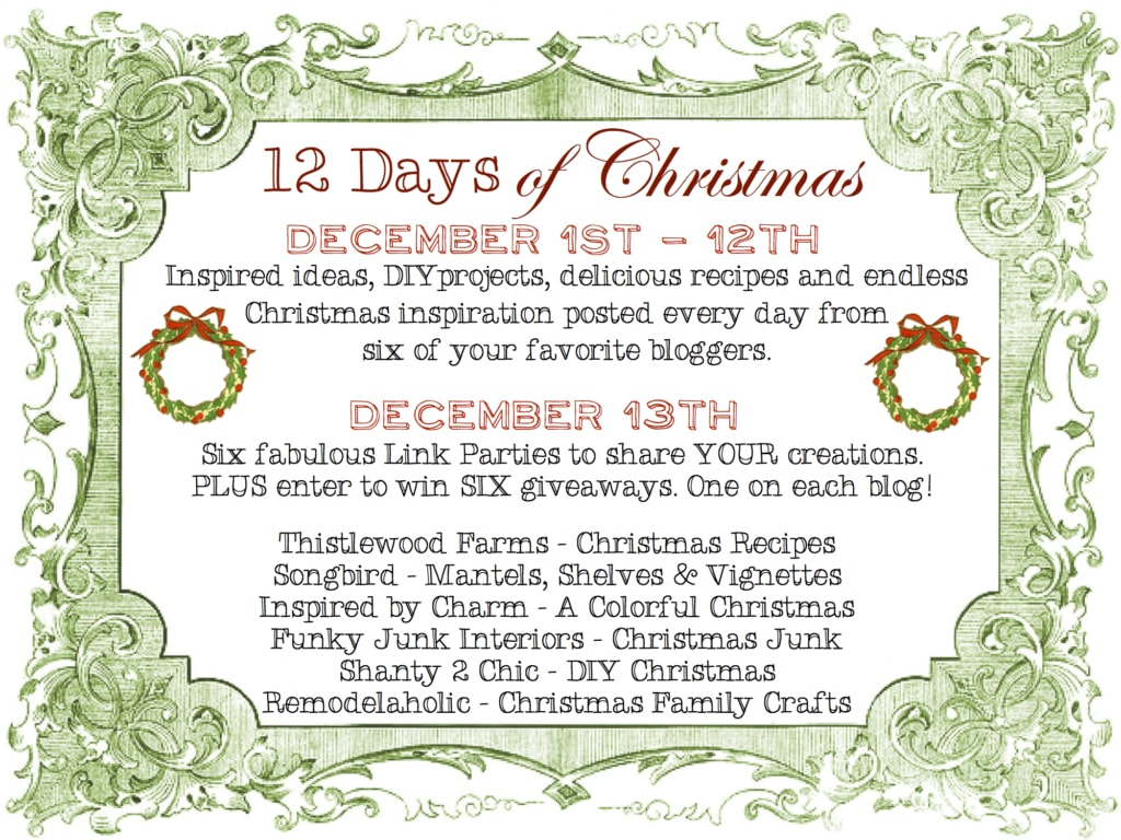 12 Days of Christmas Introduction | Inspired by Charm #IBCholiday #12days72ideas