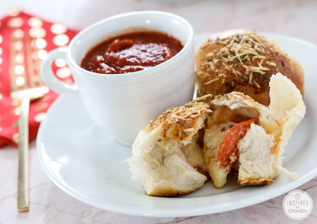 Easy Cheesy Pepperoni Rolls | Inspired by Charm