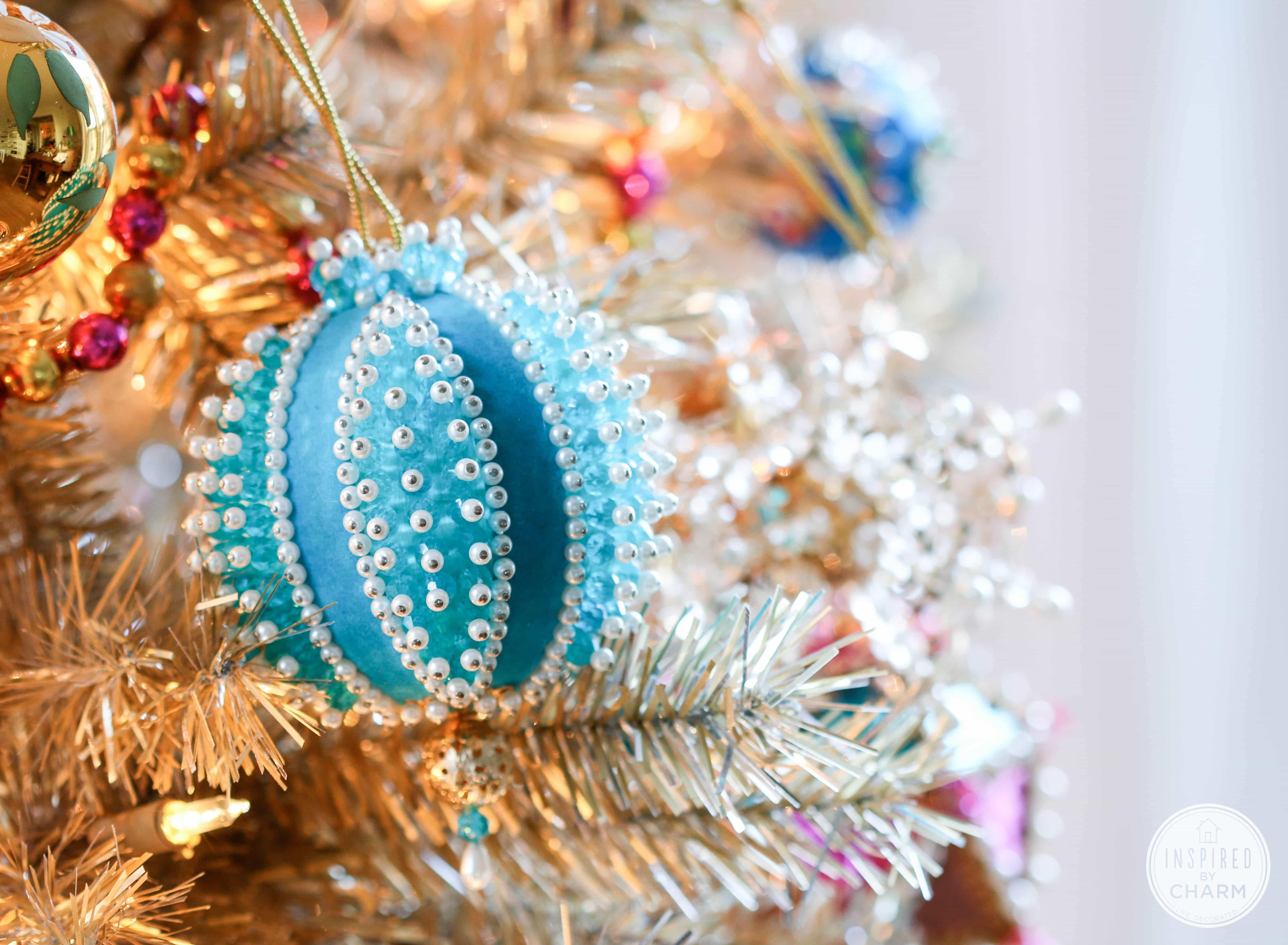 Beaded Christmas Ornaments.Addicted Vintage Beaded Christmas Ornaments