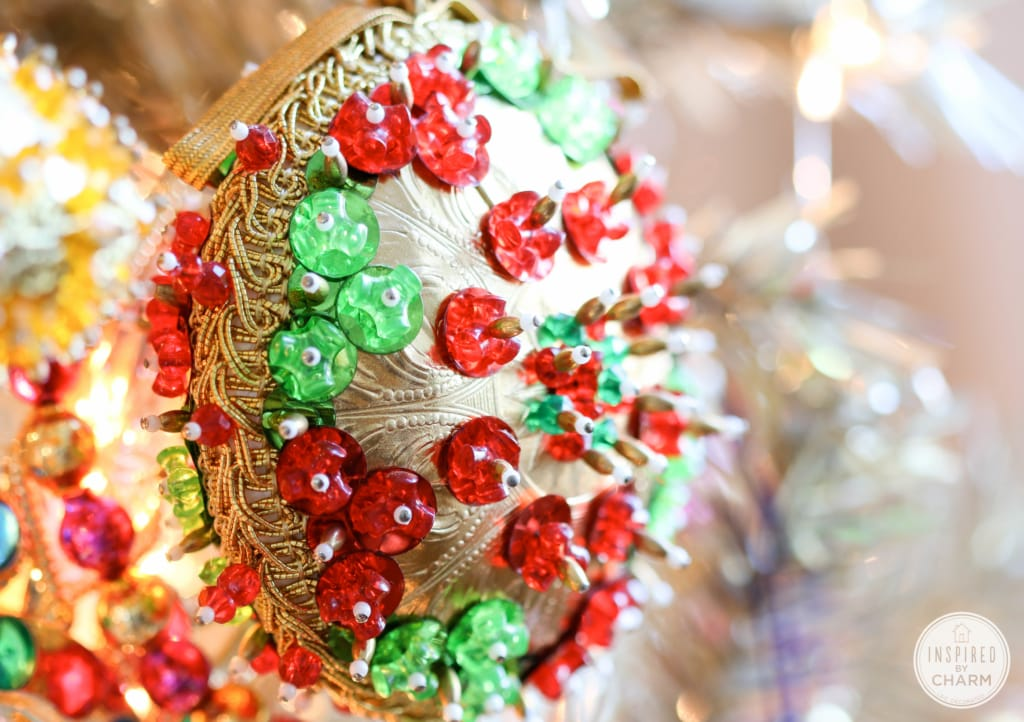 Addicted: Vintage Beaded Christmas Ornaments | Inspired by Charm  #IBCholiday