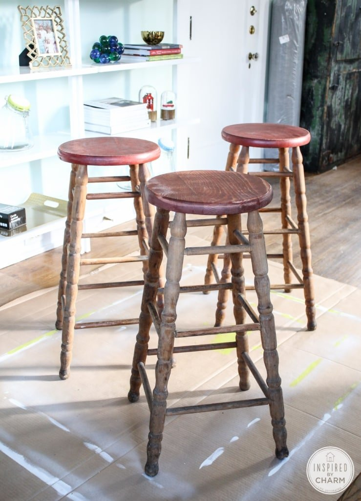 A Fresh New Look for my Stools   Inspired by Charm