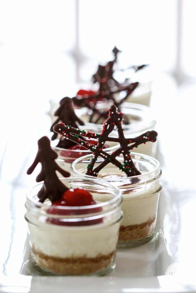 Mini Mason Jar Cheesecakes | Inspired by Charm #IBCholiday #12days72ideas