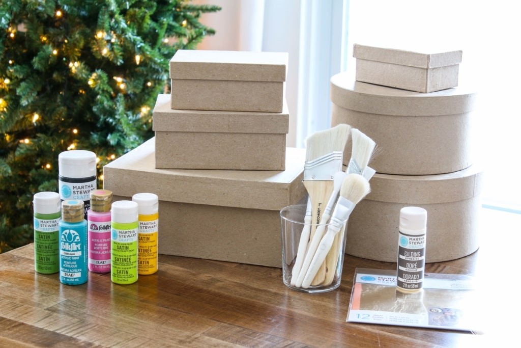 DIY Gold-Leafed Holiday Boxes | Inspired by Charm #IBCholiday #12days72ideas