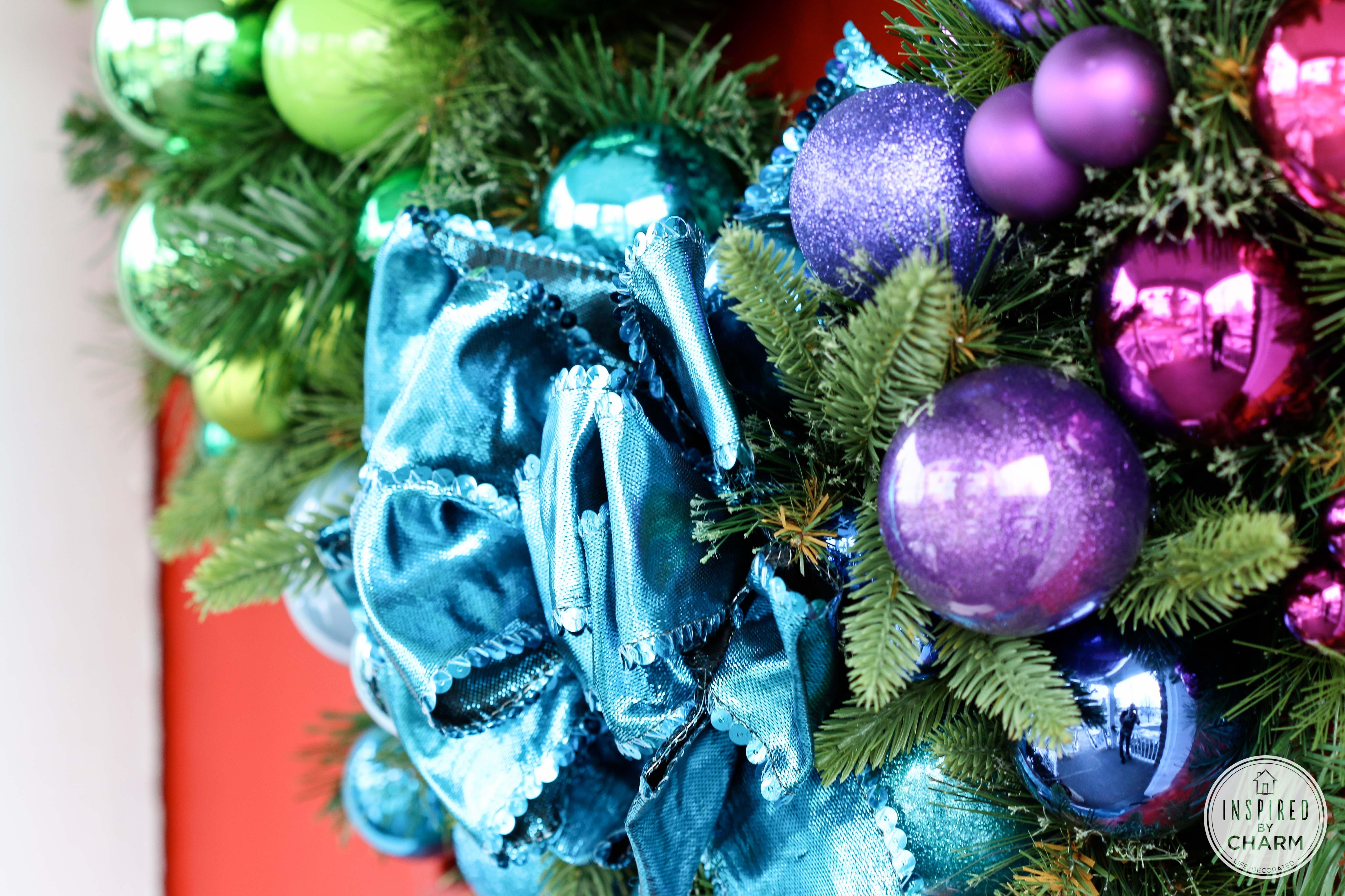 The Ultimate Gradient Rainbow Christmas Wreath