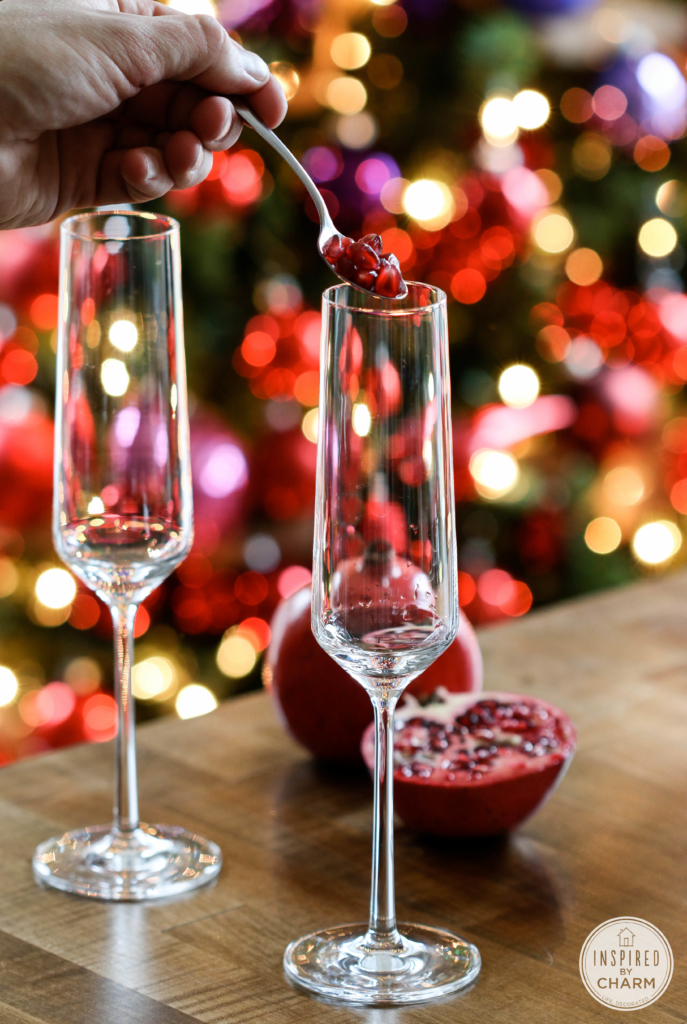 Sparkling Pomegranate Cocktail | Inspired by Charm #IBCholiday #12days72ideas
