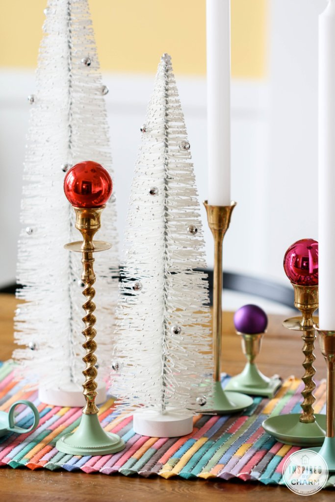Colorful Christmas Centerpiece | Inspired by Charm #12Days72ideas #IBCholiday