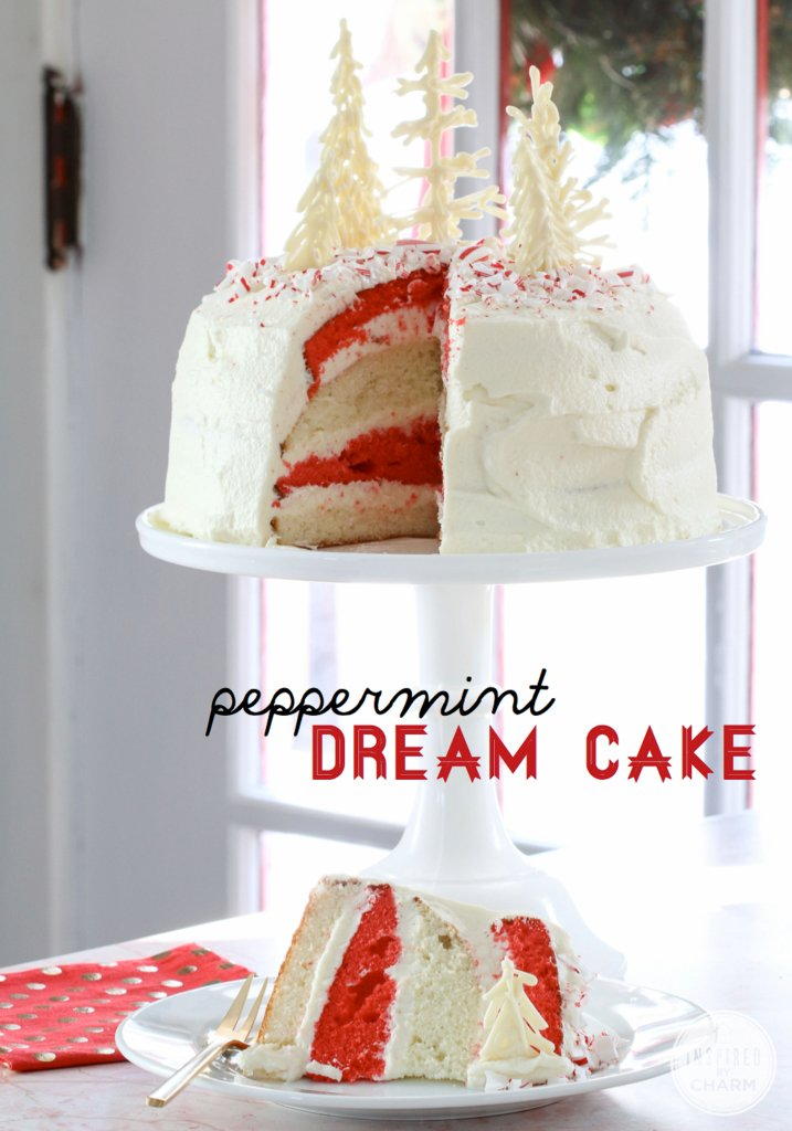 Peppermint Dream Cake | Inspired by Charm #12days72ideas #IBCholiday #mykindofholiday