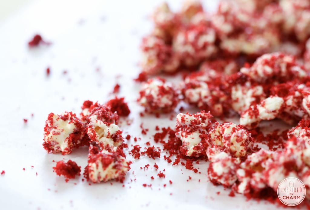 Red Velvet Popcorn   Inspired by Charm