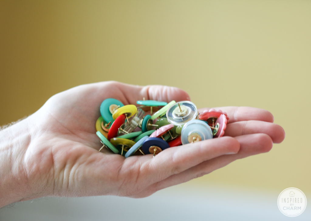 DIY Button Thumb Tacks   Inspired by Charm