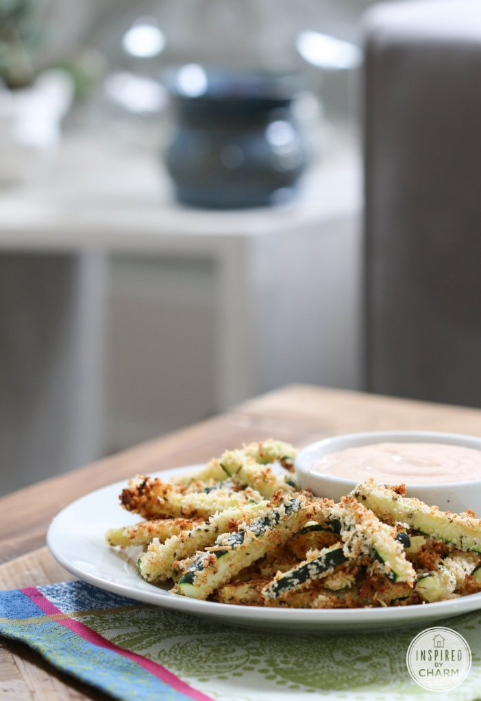 Baked Zucchini Fries | Inspired by Charm