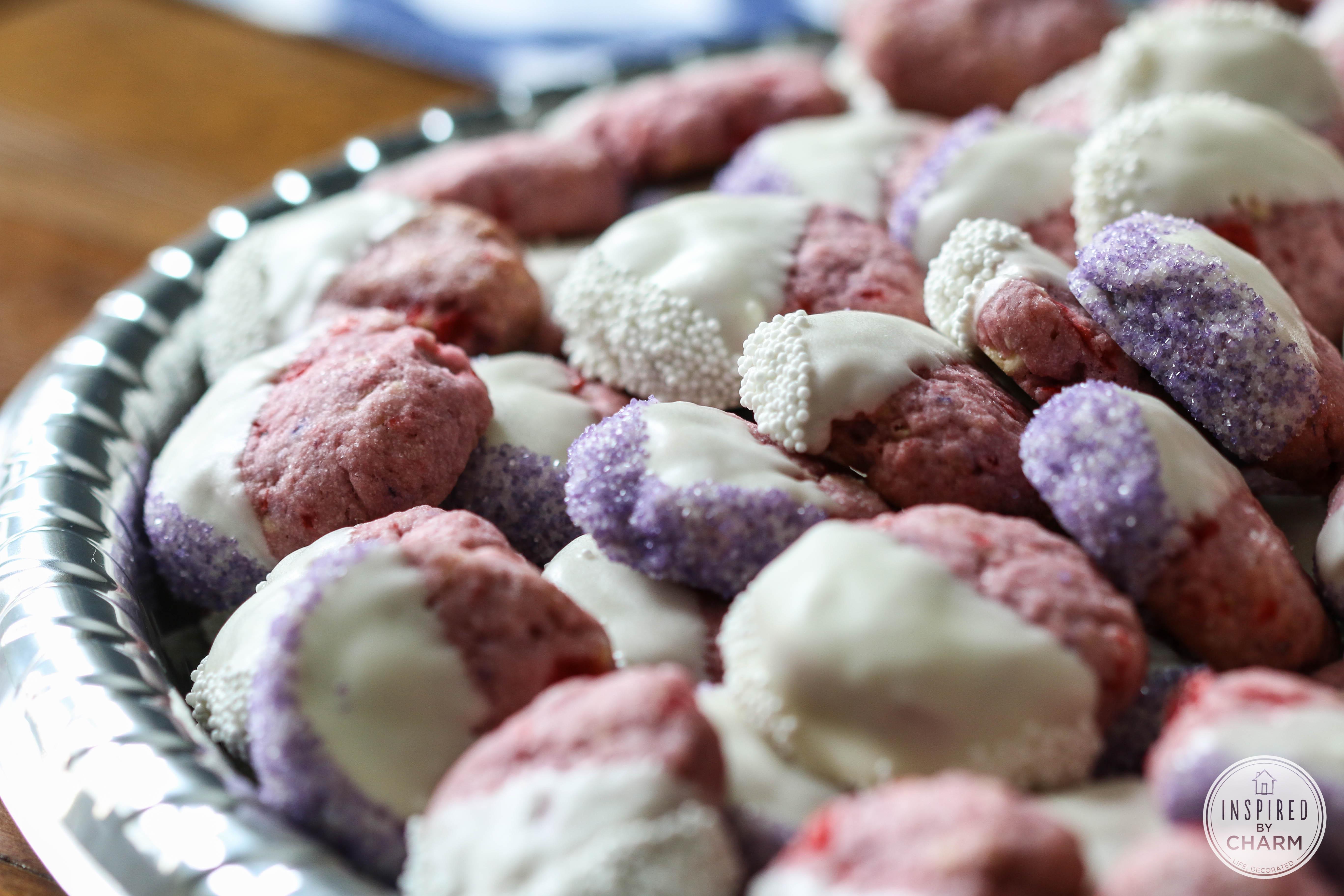 White Chocolate Cherry Shortbread Crack Cookies