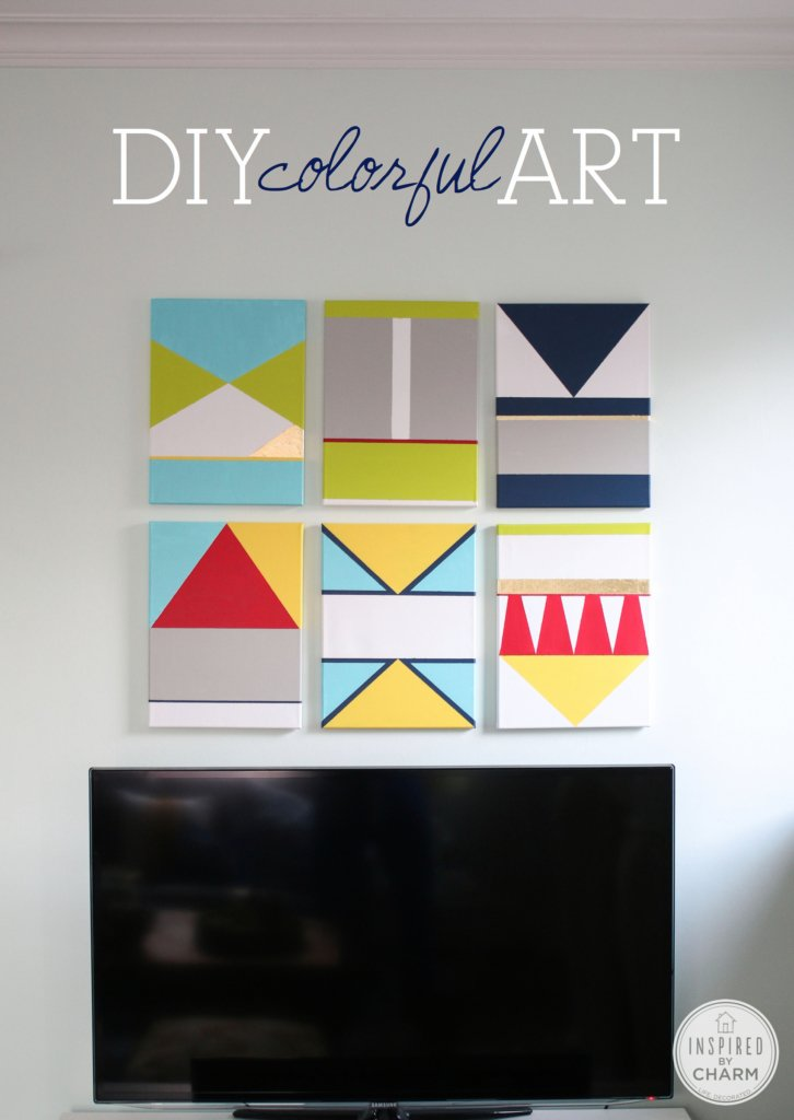 DIY Colorful Artwork | Inspired by Charm