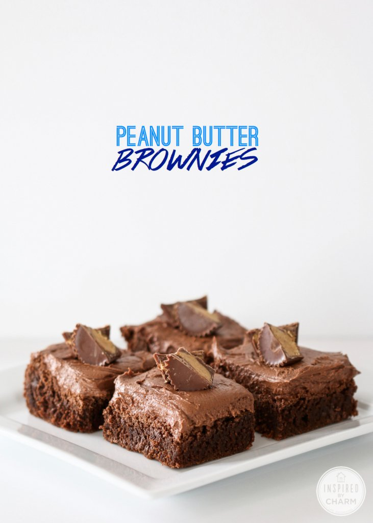 Peanut Butter Brownies | Inspired by Charm for BHG Style Spotters