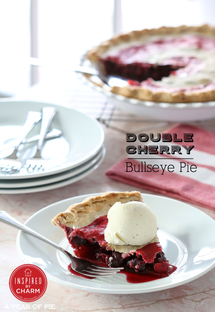 Double Cherry Bullseye Pie | Inspired by Charm