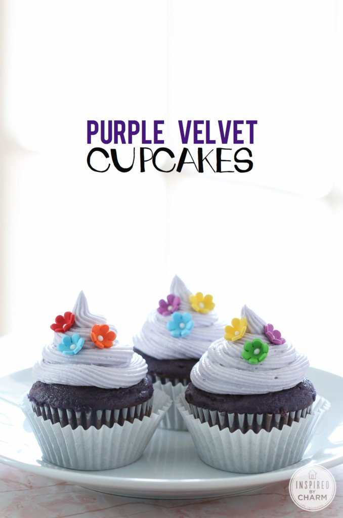 Purple Velvet Cupcakes | Inspired by Charm