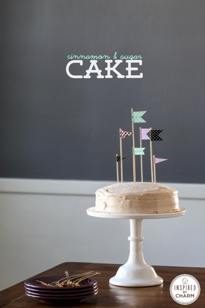 Cinnamon & Sugar Cake - easy cake recipe | Inspired by Charm
