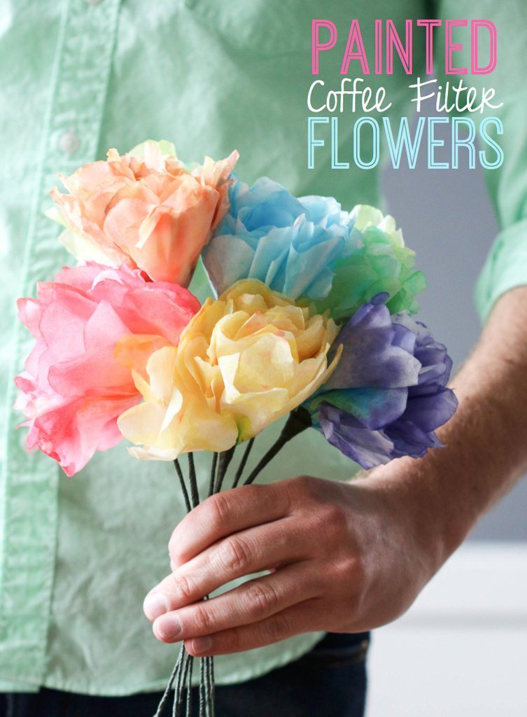 Painted Coffee Filter Flowers | Inspired by Charm for RedEnvelope