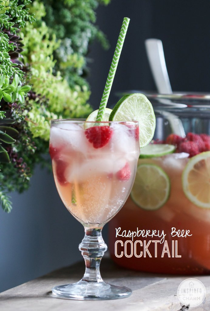 Raspberry Beer Cocktail | Inspired by Charm