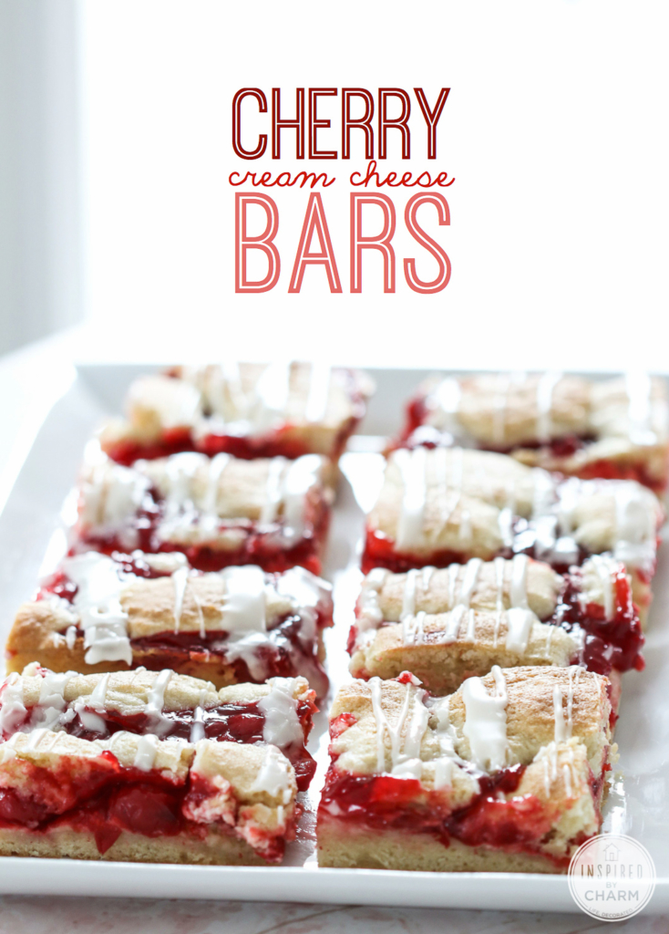 Cherry Cream Cheese Bars| Inspired by Charm