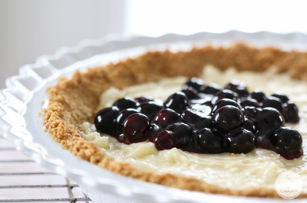 Blueberry Cream Pie | Inspired by Charm #ayearofpie
