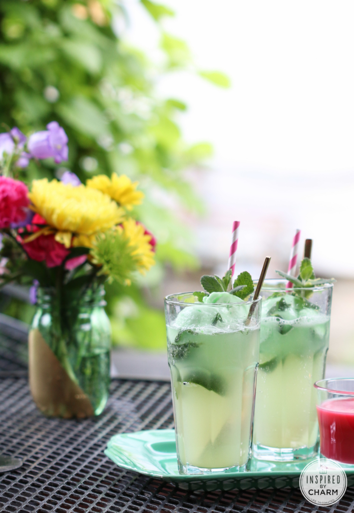 Ginger & Mint Lime Floats | Inspired by Charm