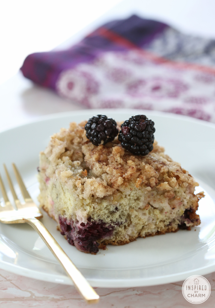 Blackberry Rhubarb Cake #cake #coffeecake #rhubarb #blackberry #dessert #recipe