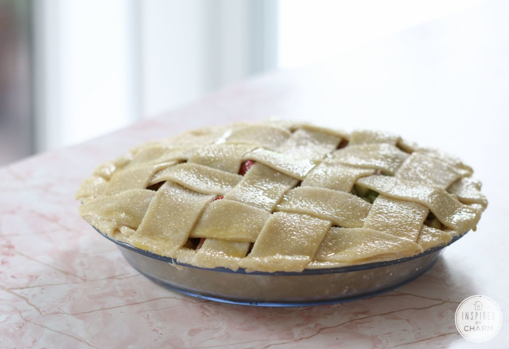Strawberry Rhubarb Pie | Inspired by Charm #ayearofpie