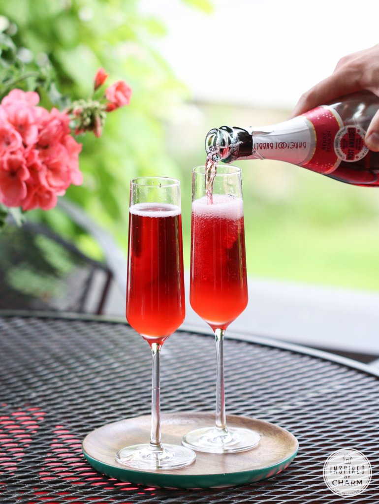 Strawberry Rhubarb Mimosa | Inspired by Charm