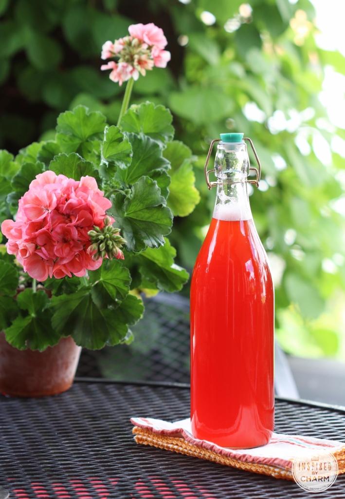 Strawberry Rhubarb Syrup | #rhubarb #strawberry #syrup #recipe #summer