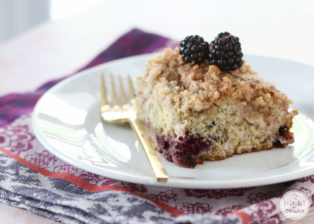 Blackberry Rhubarb Cake | Inspired by Charm