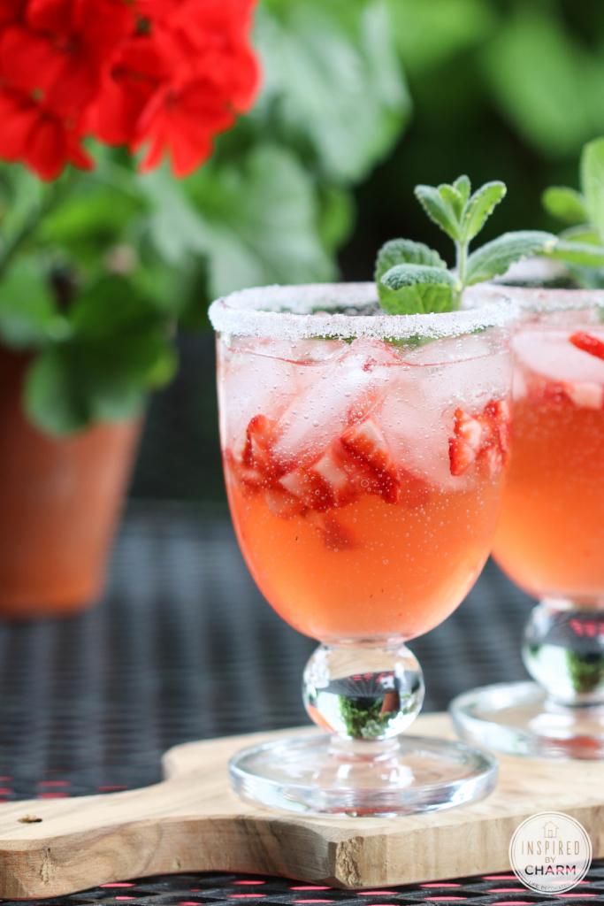 Strawberry Rhubarb Margarita |#margarita #strawberry #rhubarb #recipe #cocktail #summer